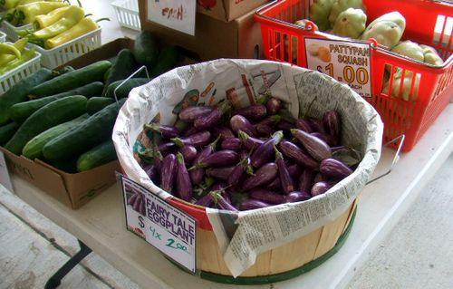 Farmer's market fairy eggplant
