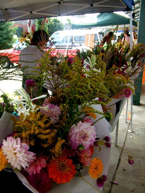 Farmer's market flower stall