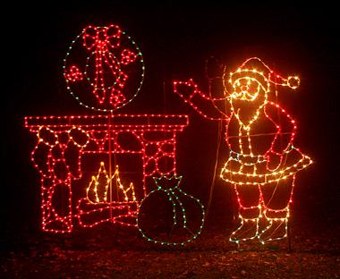 Zoolights santa mantle