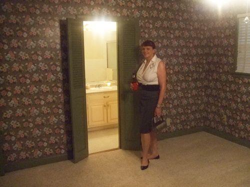 Elvis house me in master bedroom