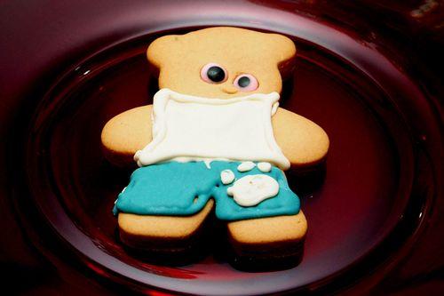 Zali's bd male bear cookie