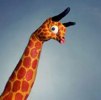 Hand giraffe