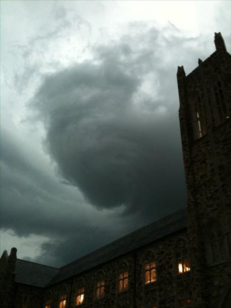 Rhodes cloud tower storm
