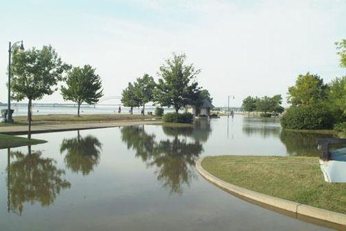 Flood, parking lot