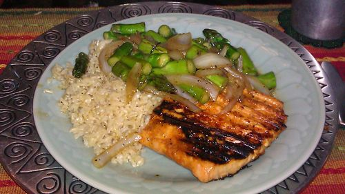 Salmon lunch