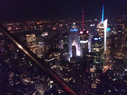 Ny empire state view at night 2