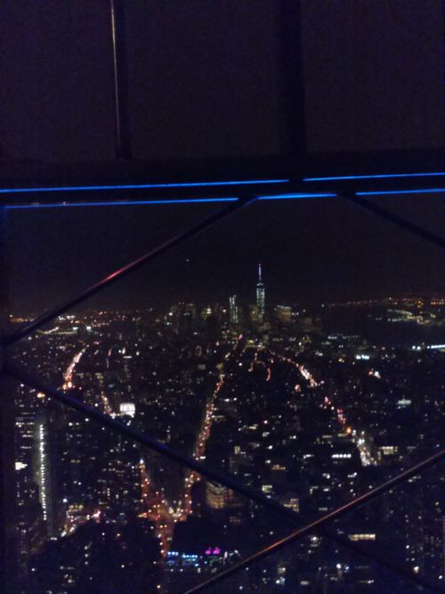 Ny empire state view at night 3